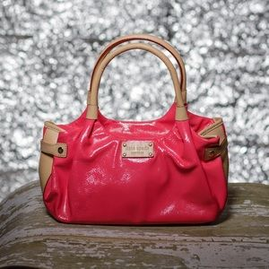 Kate Spade small Stevie bright pink handbag
